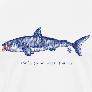 Don't swim with Sharks - Männer Premium T-Shirt
