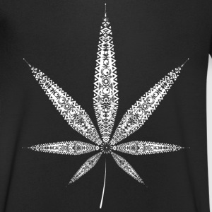 Cannabis Leaf - white T-Shirts - Men's V-Neck T-Shirt