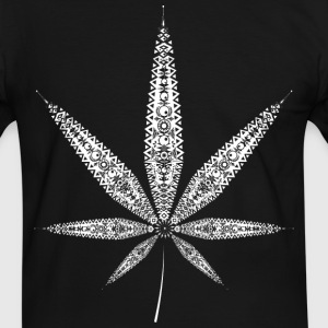 Cannabis Leaf - white T-Shirts - Men's Ringer Shirt