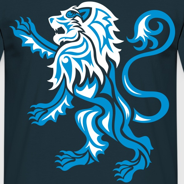 Alba Tribal Lion Rampant - Men's T-Shirt