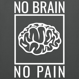 no brain no pain brain saying statement stupidity Bags & Backpacks - Tote Bag
