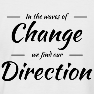 In the waves of change we find our direction Tee shirts - T-shirt baseball manches courtes Homme