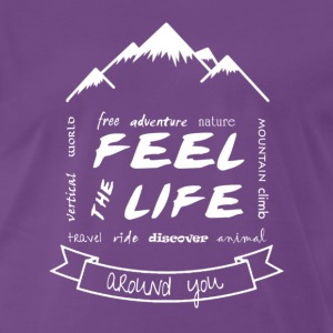 Feel the Life around you - Blanco - Camiseta premium hombre