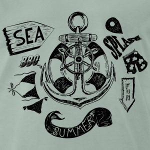 Summer and Sea Tee shirts - T-shirt Premium Homme