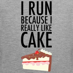 I Run Because I Really Like Cake Sports wear - Men's Premium Tank Top