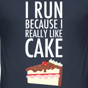 I Run Because I Really Like Cake T-Shirts - Männer Slim Fit T-Shirt