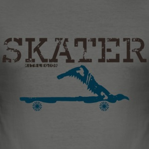 skater sw T-shirts - Slim Fit T-shirt herr