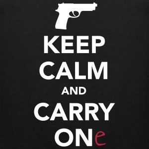 Keep Calm And Carry One (Gun) Sports wear - Men's Premium Tank Top