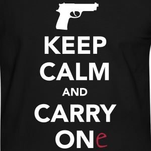 Keep Calm And Carry One (Gun) T-Shirts - Men's Ringer Shirt