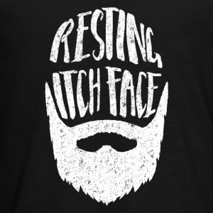 Resting Itch Face Funny Beard Long Sleeve Shirts - Teenagers' Premium Longsleeve Shirt