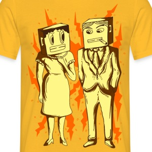 Paper Bag Face Mask T-Shirts - Men's T-Shirt