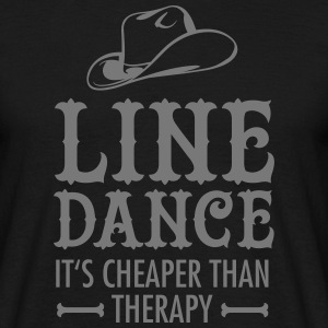Line Dance - It's Cheaper Than Therapy T-Shirts - Männer T-Shirt