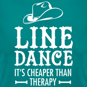 Line Dance - It's Cheaper Than Therapy T-Shirts - Frauen T-Shirt