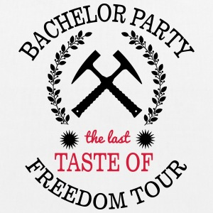 BACHELOR PARTY - THE LAST TASTE OF FREEDOM Bags & Backpacks - EarthPositive Tote Bag