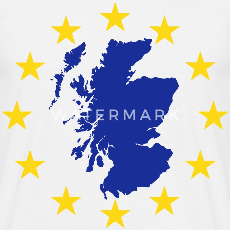 Scotland Map in EU Stars T-Shirts - Men's T-Shirt