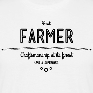 Best farmer - craftsmanship at its finest, like a super hero T-Shirts - Men's T-Shirt