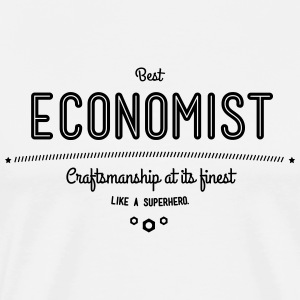Best Economist - like a super hero T-Shirts - Men's Premium T-Shirt
