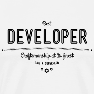 Best programmer - craftsmanship at its finest, like a super hero T-Shirts - Men's Premium T-Shirt