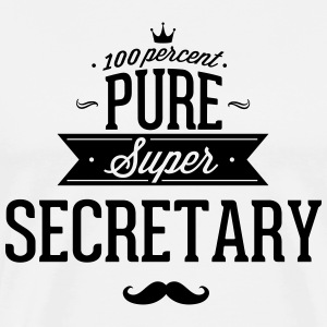 100% Super Secretary T-Shirts - Men's Premium T-Shirt