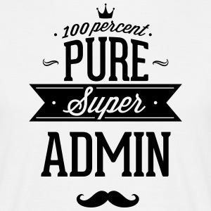 100% superadministrator T-skjorter - T-skjorte for menn