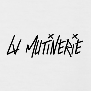 Tees Mutinerie Black&White  - T-shirt baseball manches courtes Homme