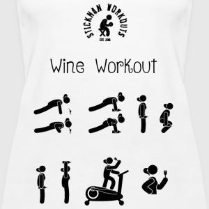 Workout with Wine Women's White Tank Vest Top - Women's Premium Tank Top