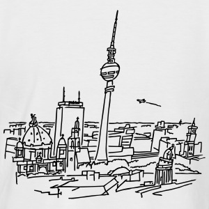 Le panorama de Berlin  Tee shirts - T-shirt baseball manches courtes Homme