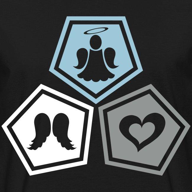 Tee shirt bio Homme Trio ange, ailes d'ange et coeur