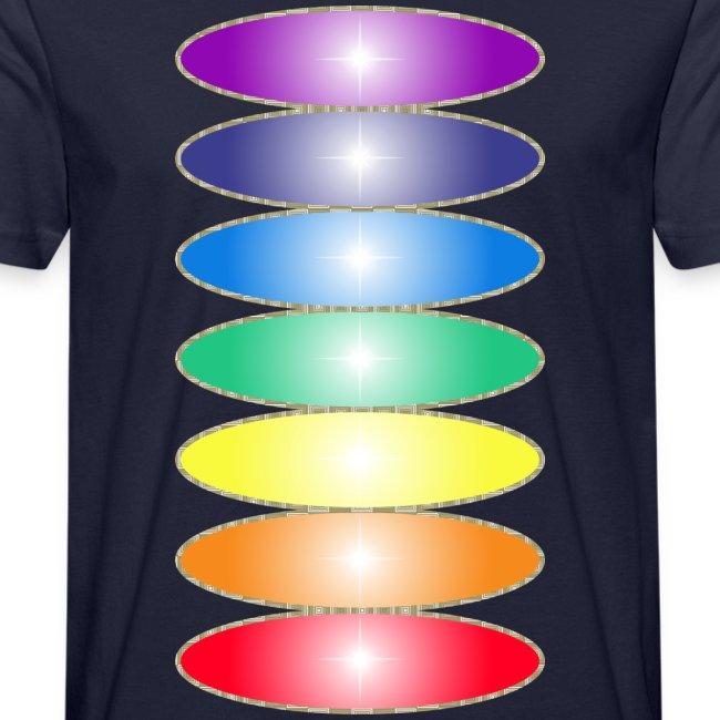 Tee shirt bio Homme Couleurs des chakras