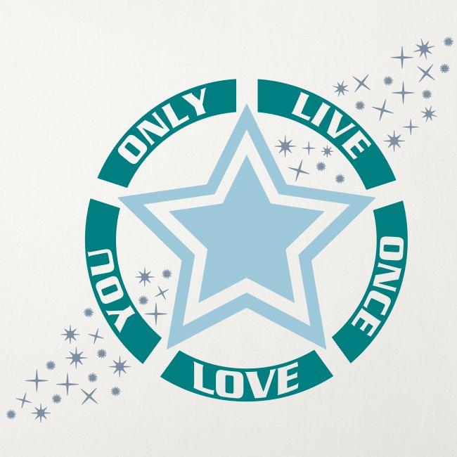 Housse de coussin décorative Live Love