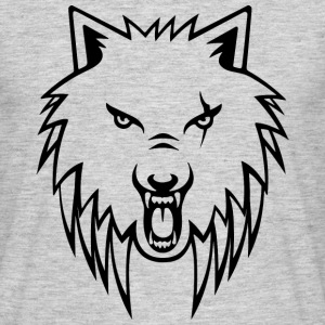 Apollo Wolf Transparent Black T - Men's T-Shirt