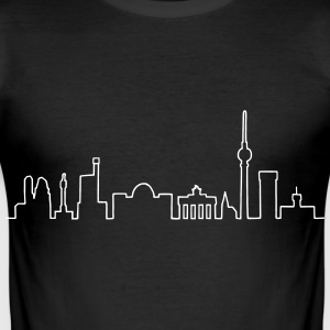 Skyline of Berlin T-Shirts - Men's Slim Fit T-Shirt