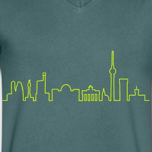 Skyline of Berlin T-Shirts - Men's V-Neck T-Shirt