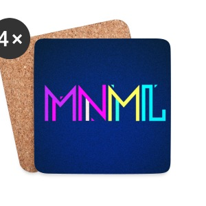 Minimal Type (Colorful) Typographie - Handy Cover Mugs & Drinkware - Coasters (set of 4)