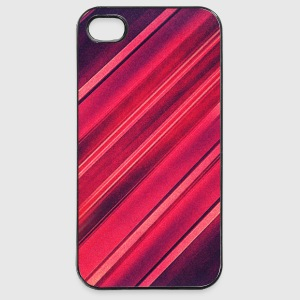 Abstract minimal texture (red/black) - Phone case Mobil- & tablet-covers - iPhone 4/4s Hard Case