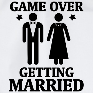GAME OVER - IT IS MARRIED! Bags & Backpacks - Drawstring Bag