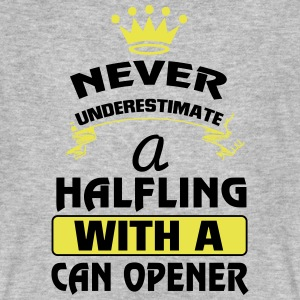 NEVER UNDERESTIMATE A DWARF WITH A CAN OPENER T-Shirts - Men's Organic T-shirt