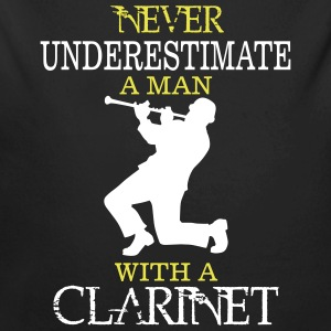 NEVER UNDERESTIMATE A MAN WITH A CLARINET! Baby Bodysuits - Longlseeve Baby Bodysuit
