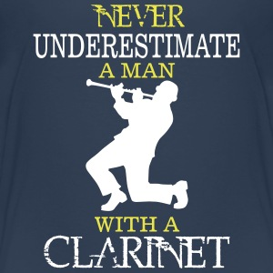 NEVER UNDERESTIMATE A MAN WITH A CLARINET! Shirts - Kids' Premium T-Shirt