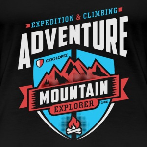 Adventure Mountain Design Art - Women's Premium T-Shirt