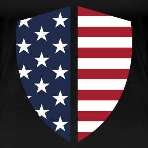 Shield American  - Women's Premium T-Shirt