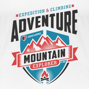Adventure Mountain Graphic Art - Women's Premium T-Shirt