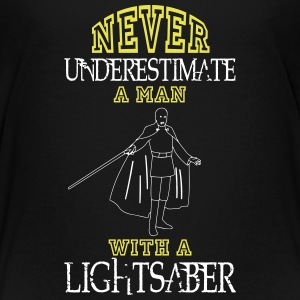 NEVER UNDERESTIMATE A MAN WITH A LIGHTSABER! Shirts - Teenage Premium T-Shirt