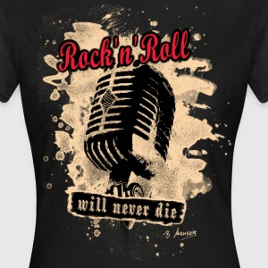 Rock-n-Roll Microphone - red - Frauen T-Shirt