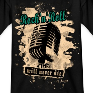 Rock-n-Roll Microphone - green - Kinder T-Shirt