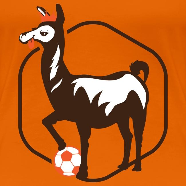 anti.football Woman's Orange T-Shirt