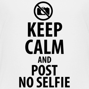 Keep calm and post no Selfie Magliette - Maglietta Premium per ragazzi