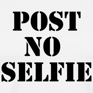 Post no Selfie T-shirts - Mannen Premium T-shirt