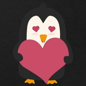Penguin with a heart Shirts - Kids' Organic T-shirt