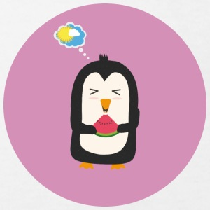 Penguin with melon Shirts - Kids' Organic T-shirt